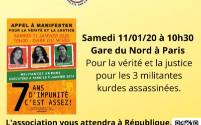 Manifestation du samedi 11 janvier 2020