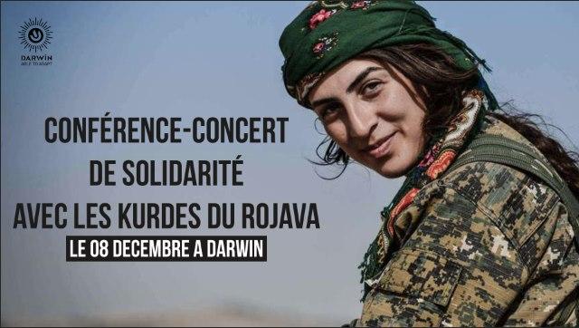 Conférence et concert de soutien au Rojava à l'Espace Darwin à Bordeaux