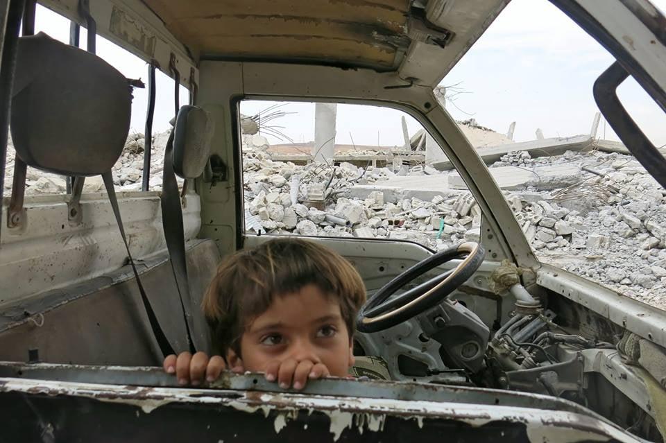 Enfant kurde au kurdistan syrien