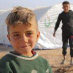 Enfant kurde dans un camp de déplacés au Rojava