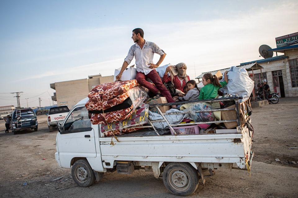 Réfugiés kurdes au Rojava en Syrie fuyant la guerre