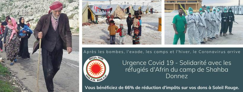 Appel aux dons réfugiés d'Afrin du camp de Shahba
